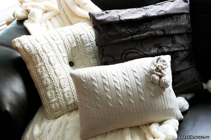 Декоративные подушки своими