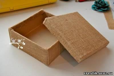 Шкатулка своими руками из коробки