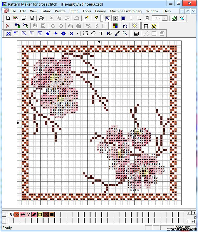 Схема в Pattern Maker for