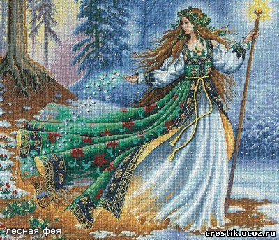 Лесная фея - схема вышивки