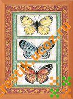 Трио бабочек - схема вышивки