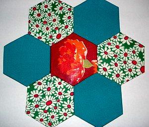 лоскутный блок из шестиугольников своими руками бабушкин сад мастер-класс