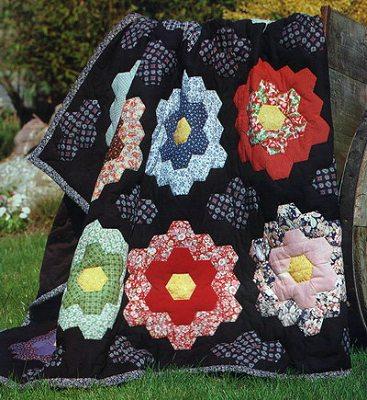 одеяло из лоскутного блока шестиугольников своими руками