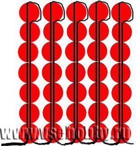 бесплатная схема плетения иголочек для мака из бисера