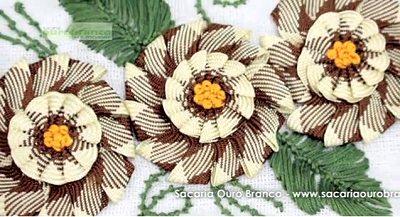 цветок из тесьмы зиг-заг своими руками мастер-класс