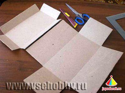 картона заготовку шкатулки