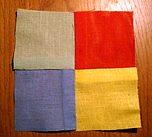 готовый лоскутный блок из квадратов
