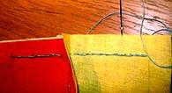 продолжаем шитье как обычно до следующего угла лоскутного блока