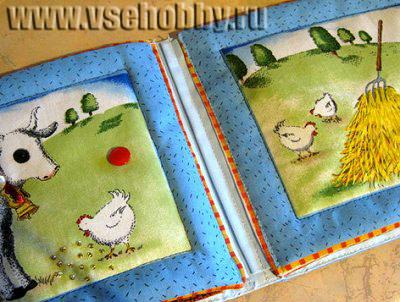 все листочки детской развивающей книжки пришиты и отлично переворачиваются