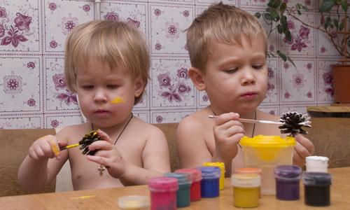 Поделки красками к новому году с детьми