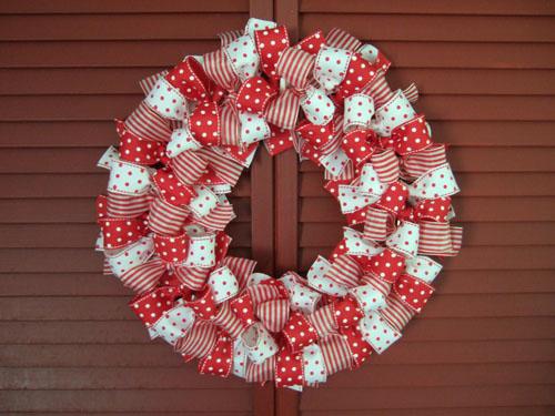 Бант на рождественский венок