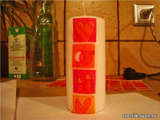 Подарочная свеча