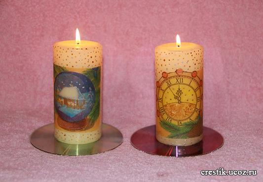 Подарочные свечи на Рождество