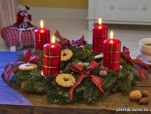 Рождественская композиция своими руками