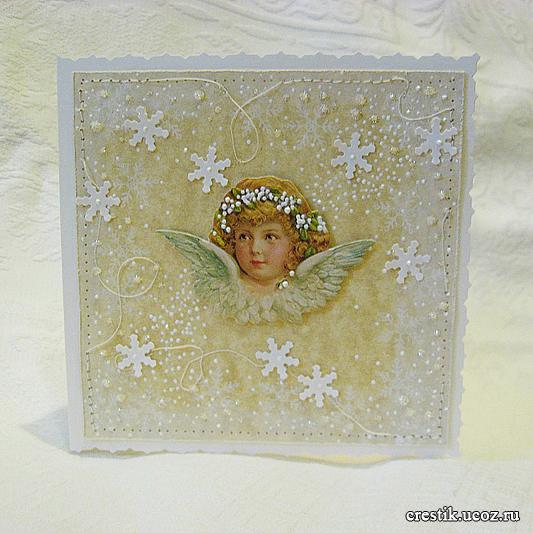 Как сделать рождественские открытки своими руками