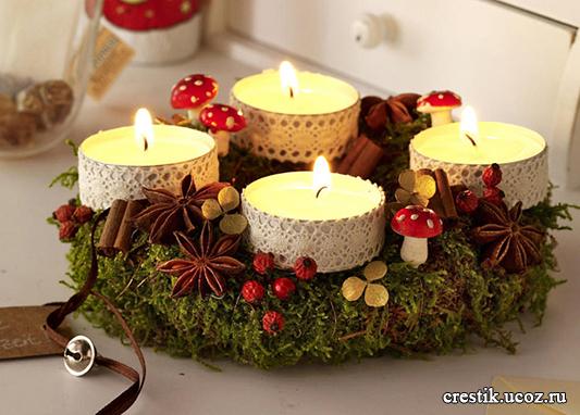Рождество Свечи своими руками