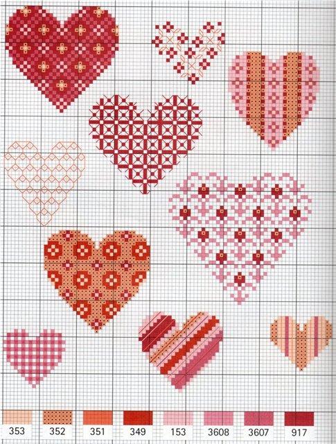 схема сердце. схема валентинка