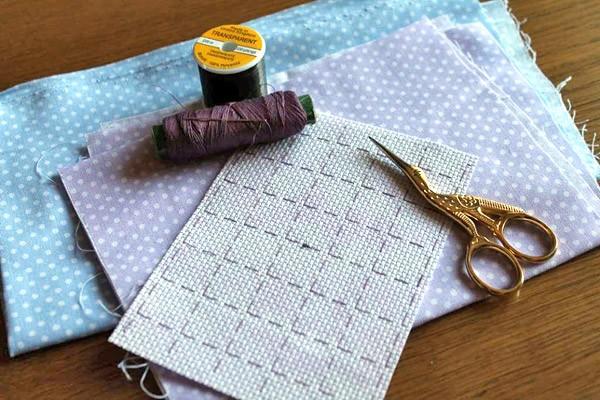 Разметка канвы при вышивании