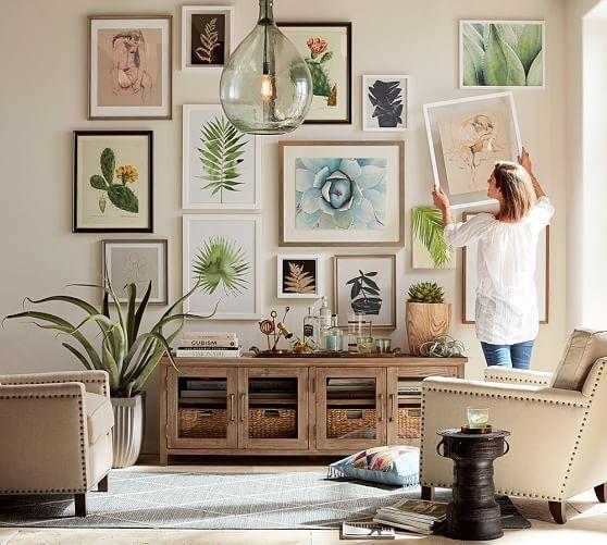 Картины в разном багете