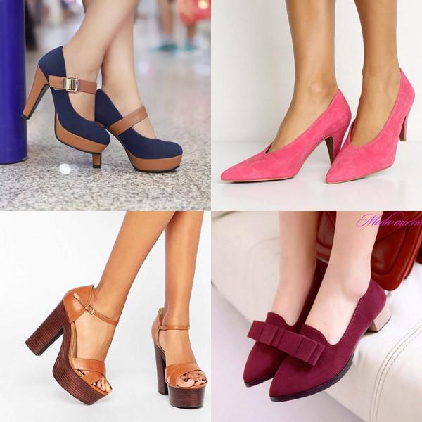 Туфли на платформе и низком каблуке