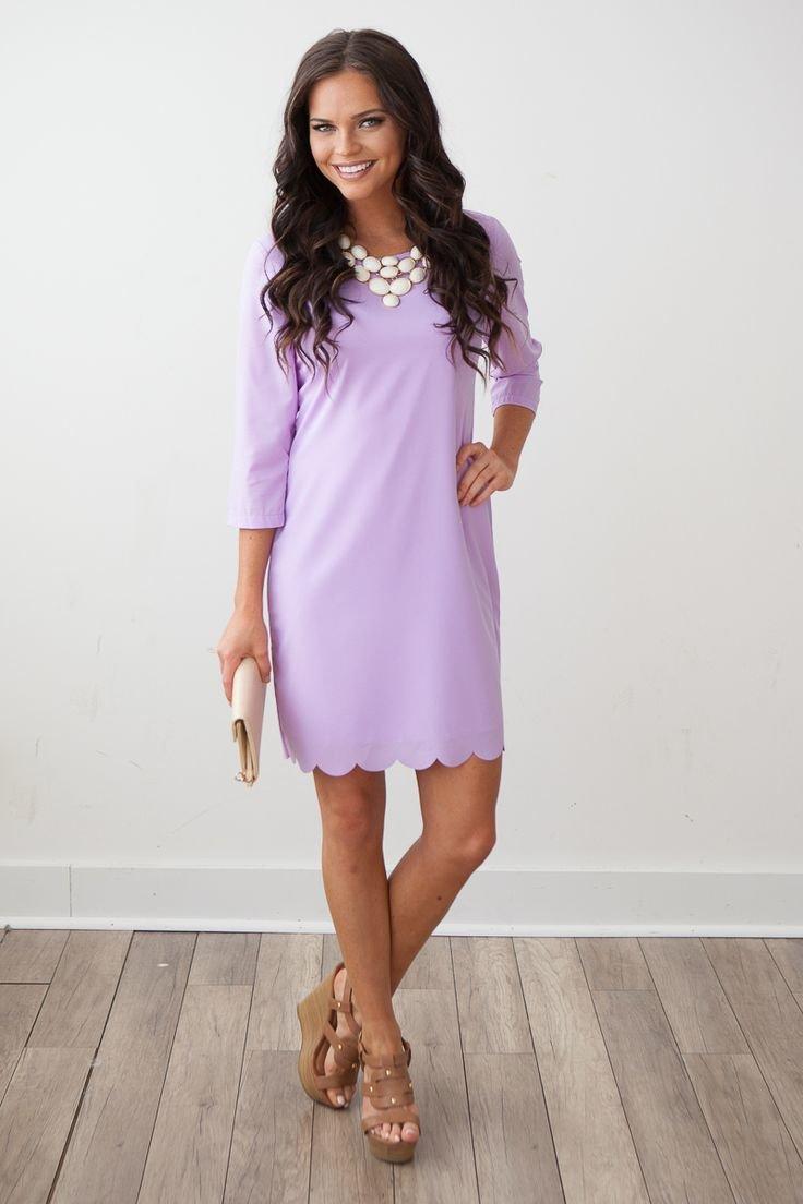 Лавандовое платье