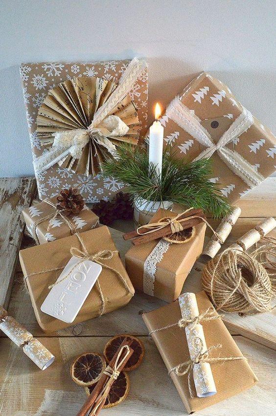 Новогодние подарки в упаковке
