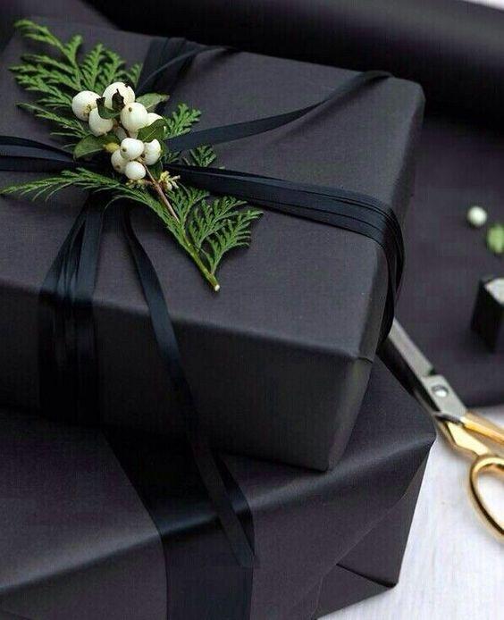 Стильная упаковка подарка