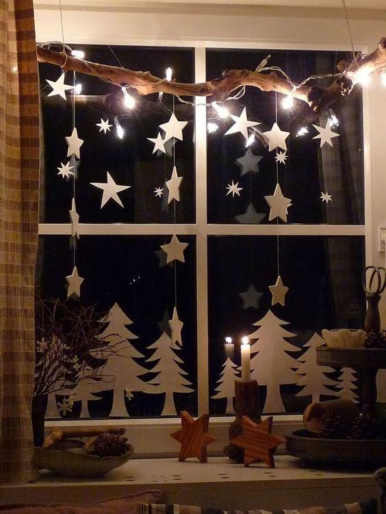 Декор новогоднего окна