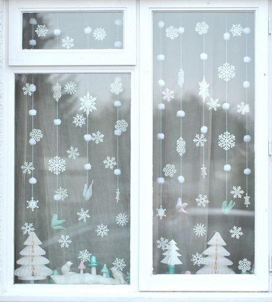 Красивое новогоднее окно