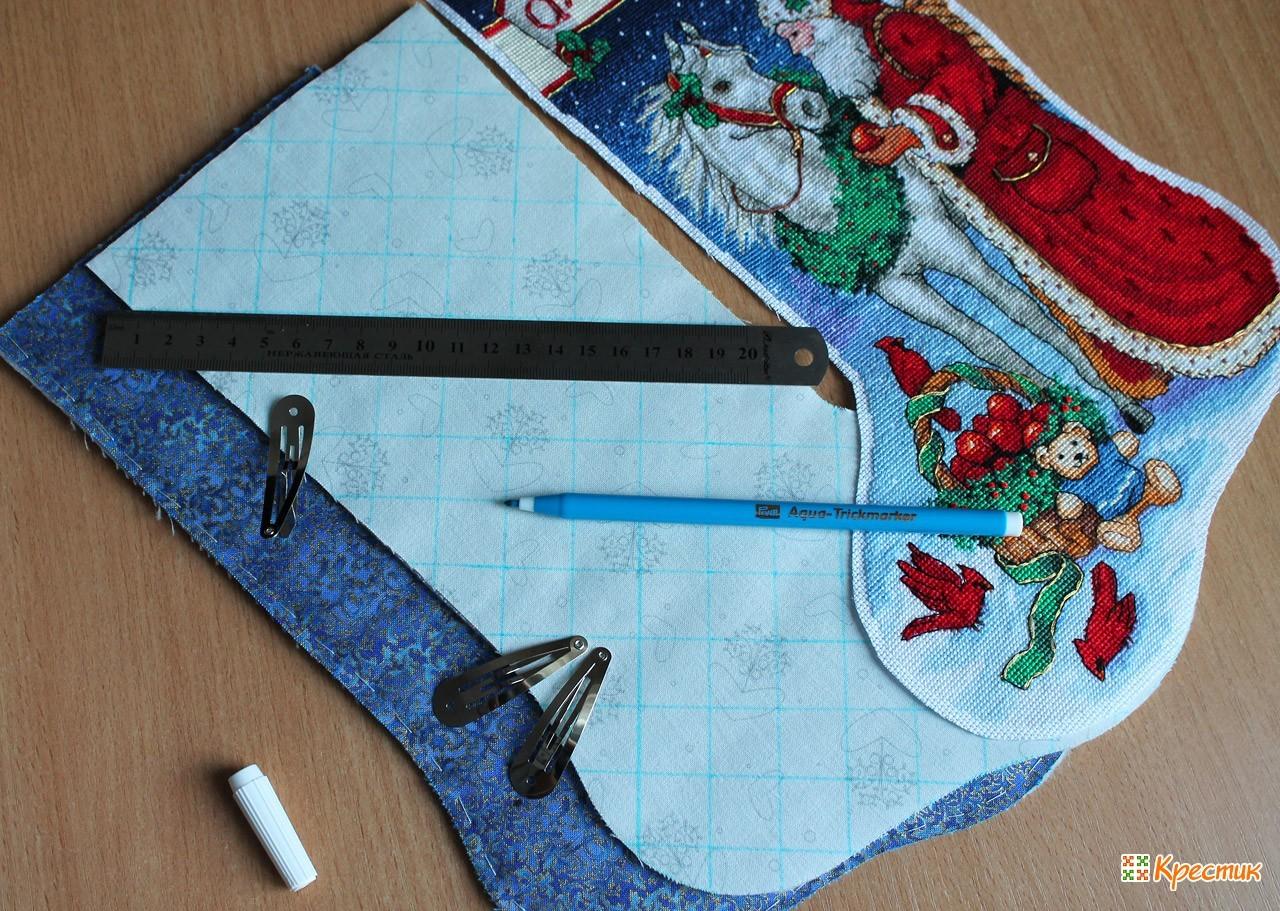 Мастер класс по пошиву рождественского носка