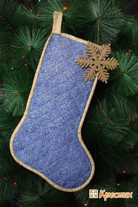 Рождественские носки из ткани
