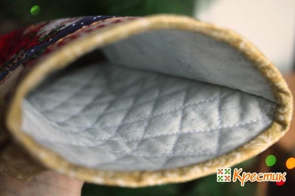 Стежка внутри сапожка