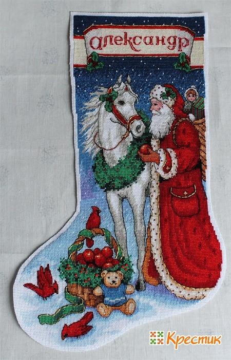 Раскрой деталей новогоднего носка