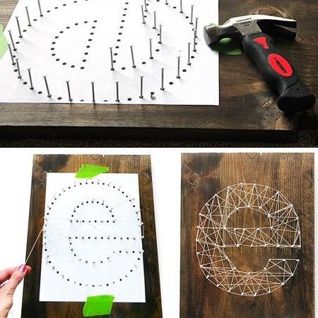Буквенный дизайн стринг-арт