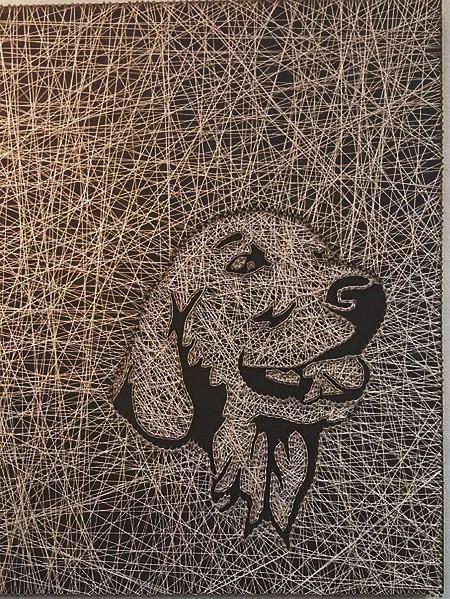 Пример реверсивного и традиционного наматывания рисунка по шаблону