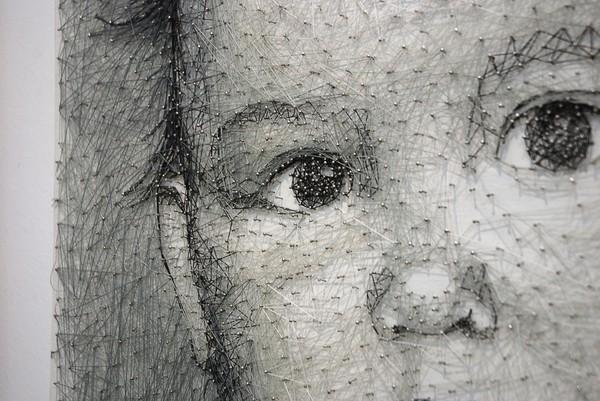 Портрет в технике стринг-арт