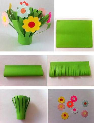 Цветочная клумба из бумаги
