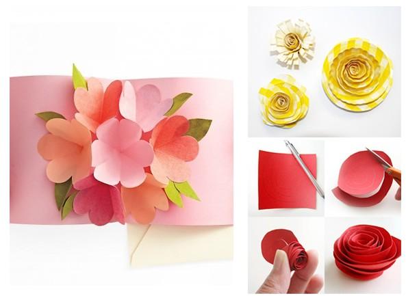 Нежные цветы из бумаги своими руками
