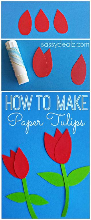 Делаем бумажный тюльпан