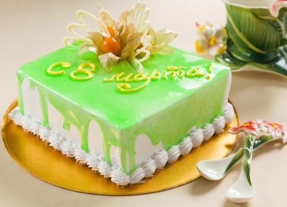 Праздничный торт - куда без него на 8 марта!