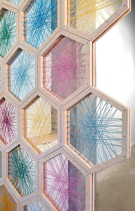 стринг-арт в шестиугольниках