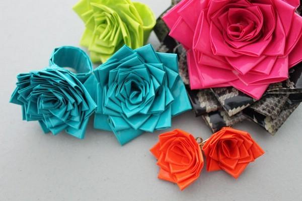 Цветы своими руками из подручных материалов фото 844