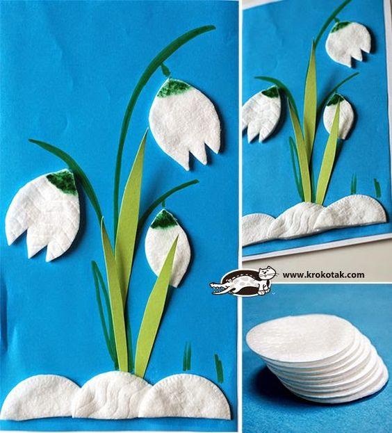 цветы из ватных дисков своими руками