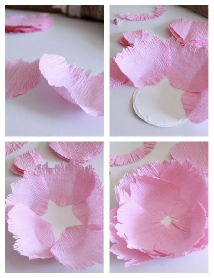 цветок из бумаги мастер-класс