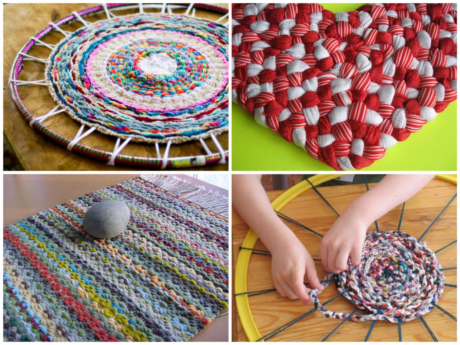 плетение на обруче