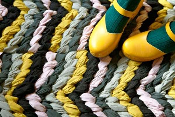 коврики своими руками из старых вещей пошагово