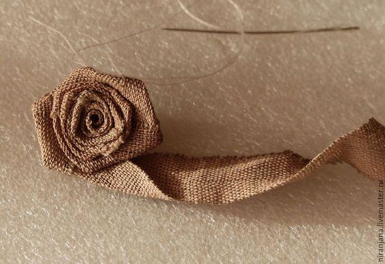роза из мешковины
