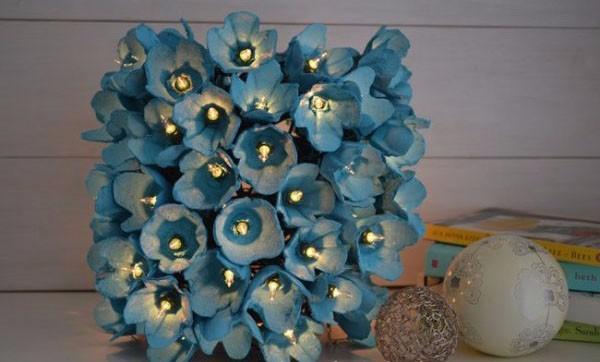 цветочный светильник