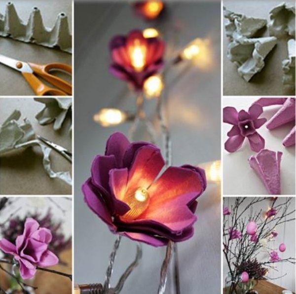 цветочная гирлянда с светодиодами