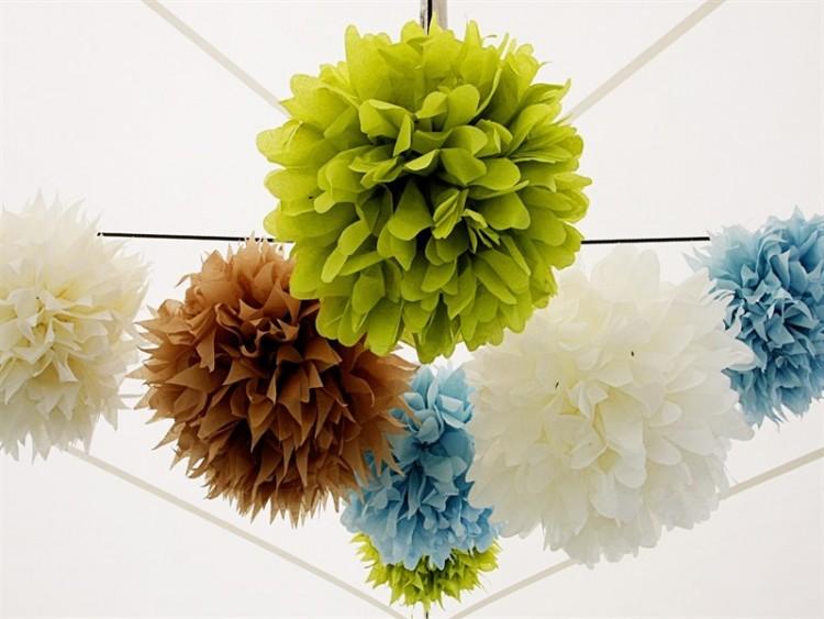 Для этих шаров не нужна плотная бумага, подойдет и тонкая для детского творчества или с пометкой fine crepe